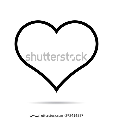 Heart icon. One of a set of linear web icons