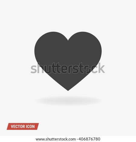 Heart Icon Vector. - stock vector