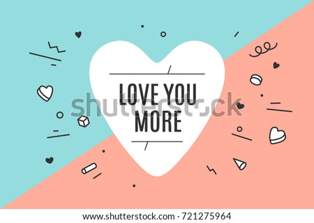 Heart Icon Text Love You More Stock Vector Royalty Free 721275964