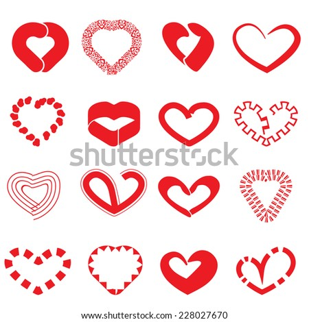 Heart Icons Vector files. - stock vector