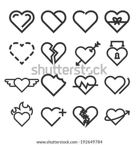 Heart Icons - Vector Graphic - stock vector