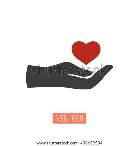 Heart in hand.Vector illustration - stock vector