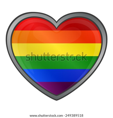 Heart in Rainbow Colors Gay Lesbian  - stock vector