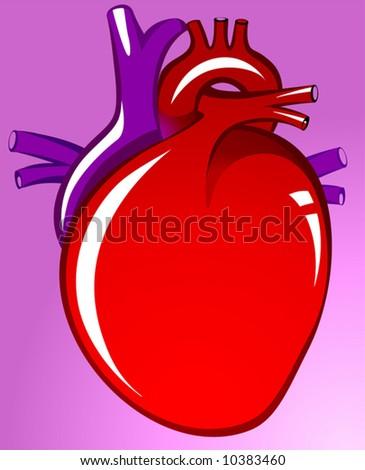heart in violet background - stock vector