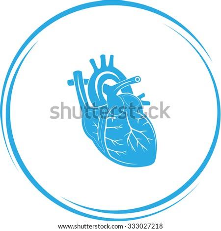 heart. Internet button. Vector icon. - stock vector