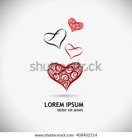 heart logo. Vector - stock vector