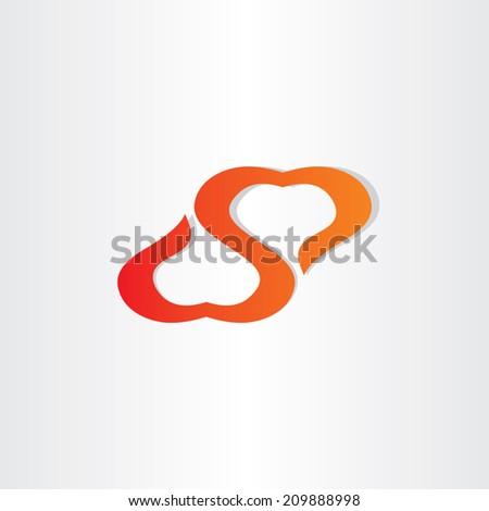 heart love abstract symbol - stock vector