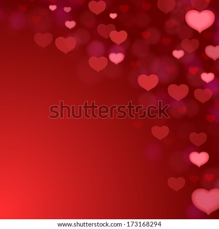 heart love valentine abstract background - stock vector
