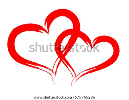 Heart Love Vector Valentine Card Love Stock Vector ...