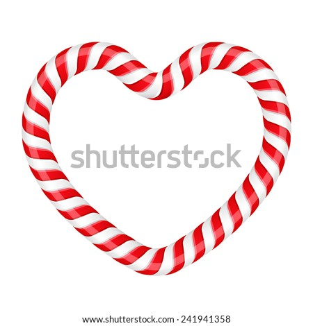 Candy cane heart stripe stock images royalty free images for Corazon de caramelo