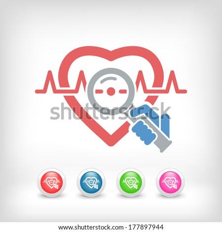 Heart medical exam - stock vector