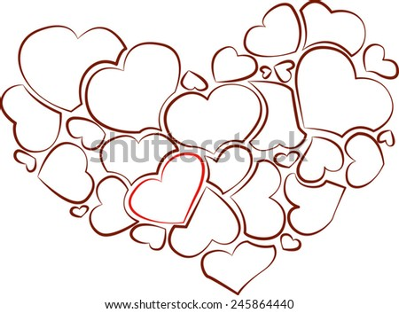 heart of hearts - stock vector