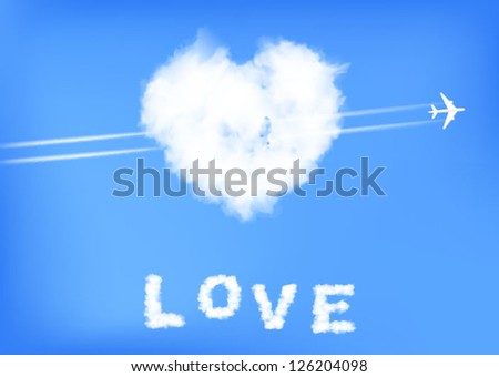 Heart of the cloud - stock vector