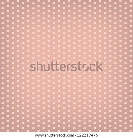 Heart pattern background with soft, low contrast colors