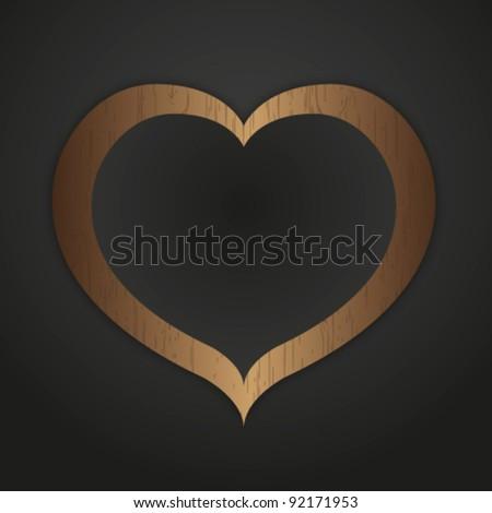 Heart pattern photo frame. - stock vector