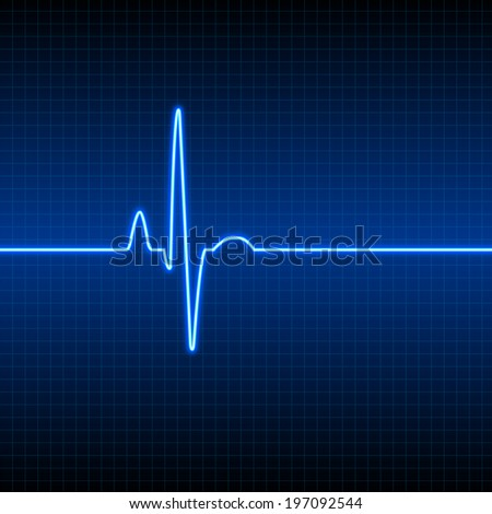 Heart pulse - stock vector