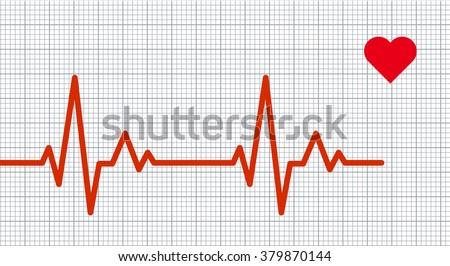 Heart pulse graphic. Vector illustration. - stock vector