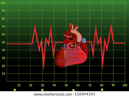 Heart pulse monitor with heart