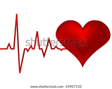 heart pulse vector illustration - stock vector