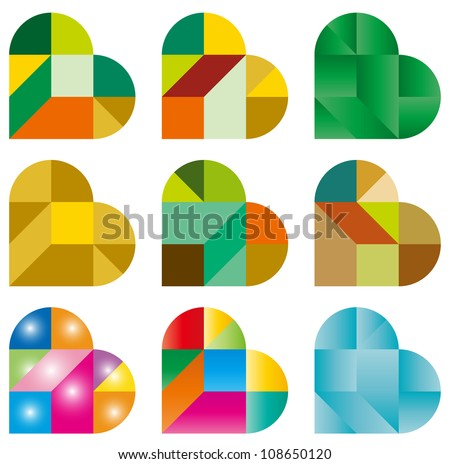 Heart Puzzle - stock vector