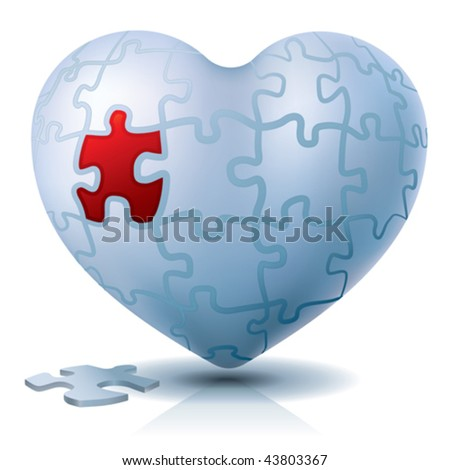 Heart puzzle. Emotional or medical solution