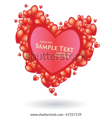 Heart Red Passion Frame for Your Message
