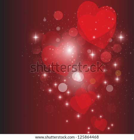 Heart red vector background