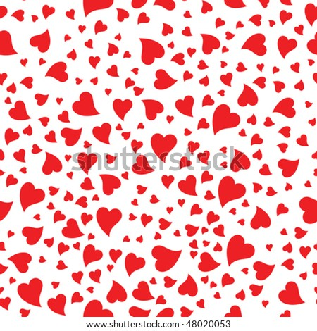Heart seamless - stock vector