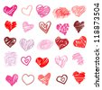 Heart. Set of design elements.  Vector illustration - stock vector