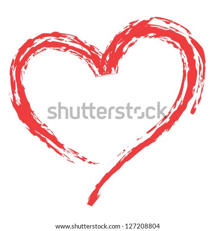 heart shape design for love symbols. - stock vector