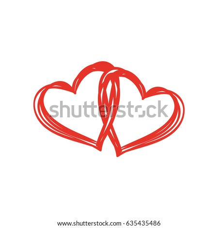 Heart Shape Design Love Symbols Stock Vector 635435486 Shutterstock