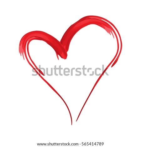 Heart Shape Design Love Symbols Valentines Stock Vector 565414789