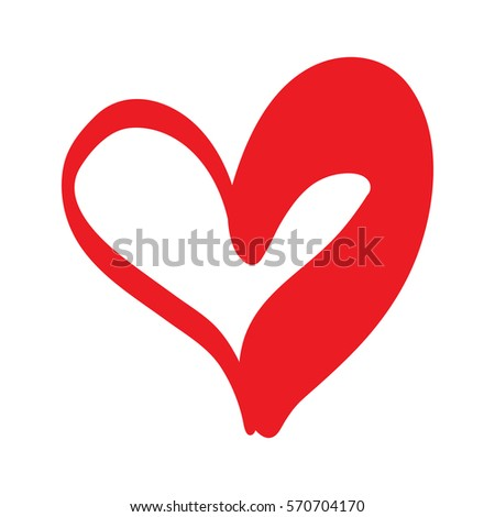 Heart Shape Design Love Symbols Valentines Stock Vector 570704170