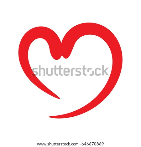 Heart Shape Design Love Symbols Valentines Stock Vector 646670869
