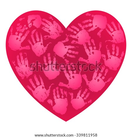 handprint heart craft lubenica s quot handprints quot set on 2152