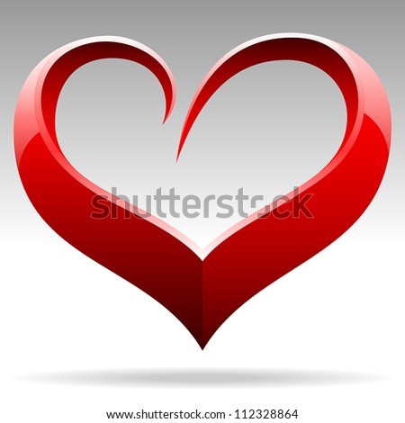 heart shape vector object - stock vector