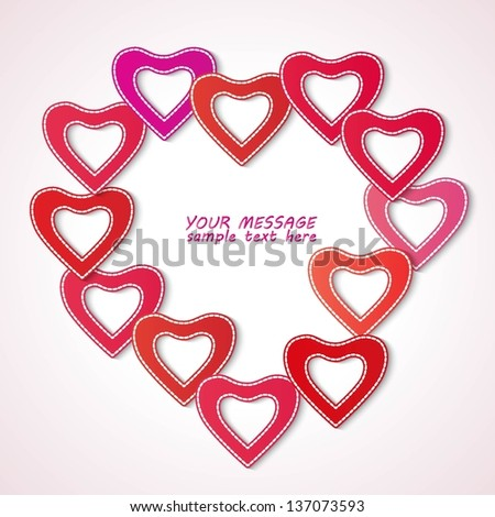 Heart Shaped Frame Made Small Heart Stock Vector 137073593 ...