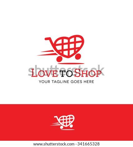 Red Shopping Cart Logo