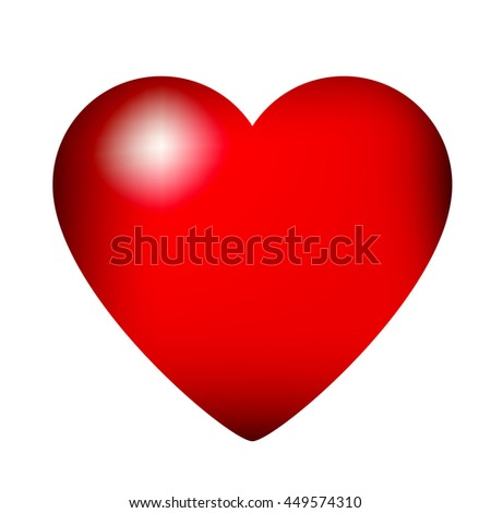 Heart-shaped vector icon illustration. Colorful fantasy abstract heart