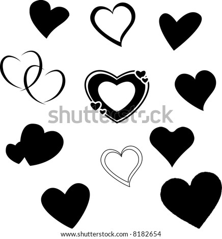 Heart Silhouette Stock Images, Royalty-Free Images & Vectors ...
