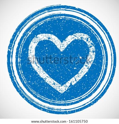 Heart stamp - stock vector