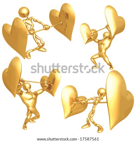 Heart Strength - stock vector