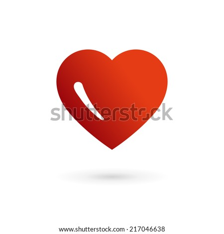 Heart symbol logo icon design template elements. May be used in medical, dating, Valentines Day and wedding design. - stock vector