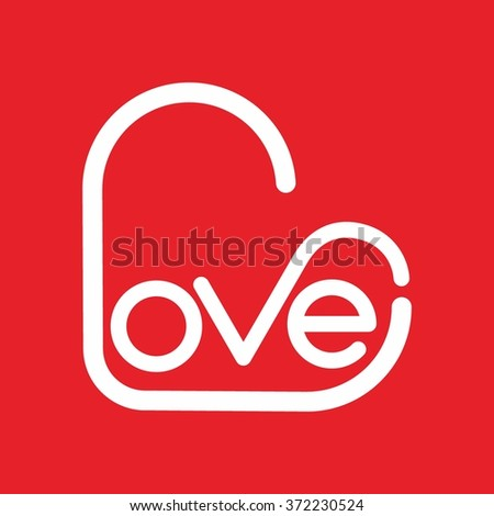 Heart symbol logo icon design template elements. Sign of love and romance. Vector Illustration. - stock vector
