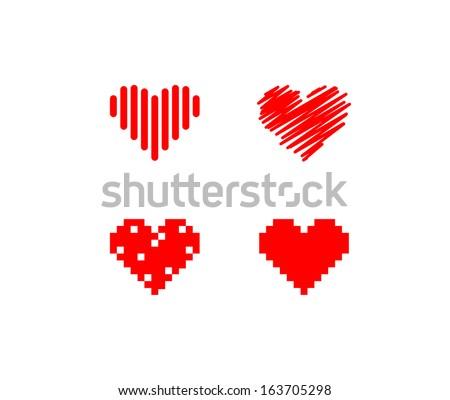 Heart symbols - stock vector