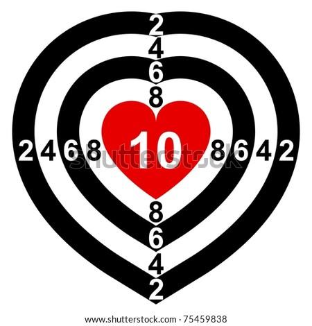 Heart-Target - stock vector