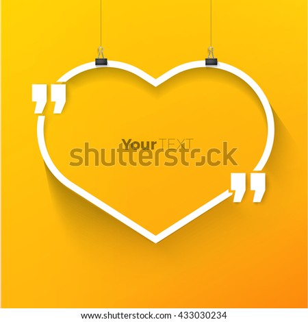 Heart Text Box Vector Design Template for Your Message - stock vector