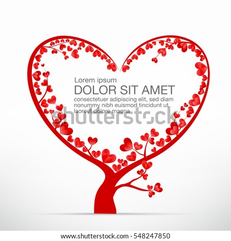 Heart tree element valentine day wedding stock vector royalty free heart tree element for valentine day and wedding card decoration vector illustration eps10 junglespirit Images