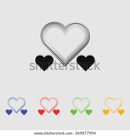 Heart - Valentine's Day vector icon