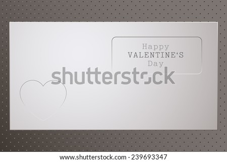 Heart Valentine. Valentine Day. Heart Holydays Background. Editable Vector Illustration.